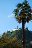 Sanctuary on the mountain. Sanctuary on Sacred mountain of Varallo Sesia, Piedmont, Italy Stock Photos