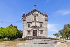 Sanctuary of Nossa Senhora do Pilar. Povoa de Lanhoso, Portugal. April 06, 2015: Sanctuary of Nossa Senhora do Pilar. Built with stones of the nearby castle Stock Photo