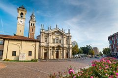 Sanctuary of Our Lady of the Miracles, Saronno, Italy; was declared part of the European Heritage royalty free stock photography
