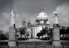 Sanctuary Sameiro in Braga stock photography