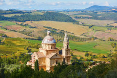 Sanctuary of San Biagio church in Montepulciano, Italy Stock Photos