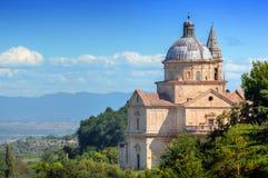 The Sanctuary of San Biagio in Montepulciano, Tuscany, Italy. Royalty Free Stock Photo