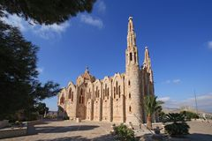 Sanctuary of Santa Maria Magdalena in Novelda, Spain. Stock Photos