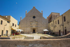The sanctuary of Santa Maria a Mare in the San Nicola island royalty free stock photography