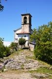 Sanctuary Santuario della Madonna della Ceriola in Monte Isola on Lake Iseo, Italy Stock Photo