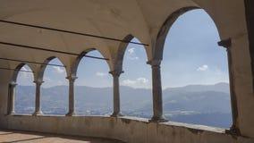 The Sanctuary of St. Patrick San Patrizio, Colzate, Bergamo, Italy. A Christian cloister Stock Photo