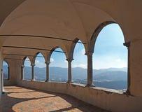 The Sanctuary of St. Patrick San Patrizio, Colzate, Bergamo, Italy. A Christian cloister Stock Photos