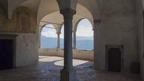 The Sanctuary of St. Patrick San Patrizio, Colzate, Bergamo, Italy. A Christian cloister Royalty Free Stock Photos