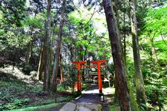 Sanctuary in the temple, Japan stock image