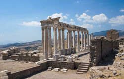 The Sanctuary of Trajan, Pergamon, Turkey Stock Images