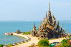 Sanctuary of Truth. Pattaya, Thailand stock photography
