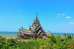 Sanctuary of truth. In Chonburi thailand Royalty Free Stock Photography