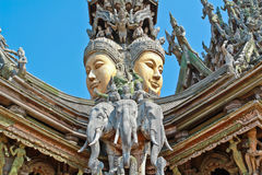 Sanctuary of truth. In Chonburi, Thailand Royalty Free Stock Images