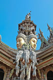 Sanctuary of truth. In Chonburi thailand Royalty Free Stock Images