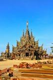 Sanctuary of truth. In Chonburi thailand Stock Image