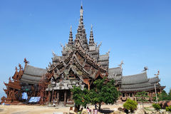 Sanctuary of Truth located in Pattaya Thailand Stock Images