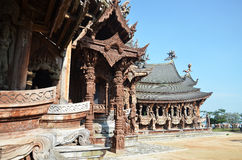 Sanctuary of Truth located in Pattaya Thailand Royalty Free Stock Image