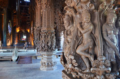 Sanctuary of Truth located in Pattaya Stock Image