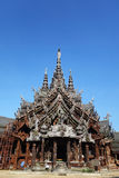 Sanctuary of Truth located in Pattaya Thailand Stock Photography