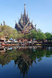 Sanctuary of Truth located in Pattaya Thailand Stock Image