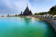 Sanctuary of truth Pataya in Thailand. Sanctuary of truth Pataya, Thailand Royalty Free Stock Photo