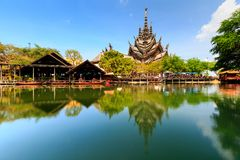 Sanctuary of truth Pataya in Thailand Stock Image