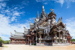 Sanctuary of Truth in Pattaya by  day Royalty Free Stock Photography