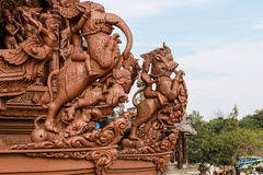 Sanctuary of Truth in Pattaya Royalty Free Stock Photos
