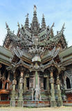 Sanctuary Of Truth in Pattaya national landmark of Thai Stock Image