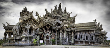 Sanctuary of truth. The Sanctuary of Truth in pattaya province (Thailand stock images