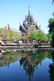 Sanctuary of Truth, Pattaya is a temple construction in Pattaya, Stock Photos