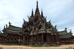 Sanctuary of Truth, Pattaya Stock Images