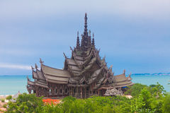 Sanctuary of Truth. Pattaya, Thailand Royalty Free Stock Photo