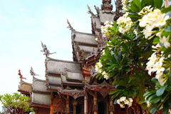 Sanctuary of Truth in Pattaya, Thailand. Royalty Free Stock Photos