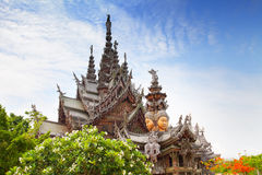 Sanctuary of Truth in Pattaya, Thailand. Stock Image