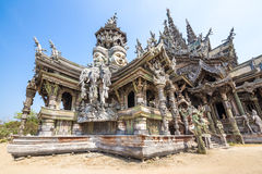 Sanctuary of Truth in Pattaya, Thailand Stock Images