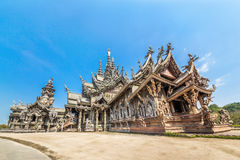 Sanctuary of Truth in Pattaya, Thailand Royalty Free Stock Image