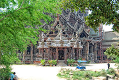 The Sanctuary of Truth, Pattaya Royalty Free Stock Photos