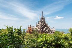 The sanctuary of truth in pattaya Royalty Free Stock Photography