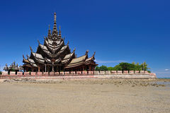 Sanctuary of truth in Pattaya thailand Royalty Free Stock Images