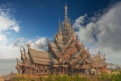 Sanctuary of Truth, Pattaya, Thailand. Stock Image