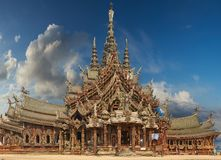 Sanctuary of Truth, Pattaya, Thailand. Stock Photo