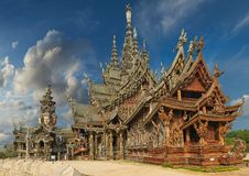 Sanctuary of Truth, Pattaya, Thailand. Royalty Free Stock Photography