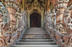 Sanctuary of Truth, Pattaya, Thailand. Royalty Free Stock Images