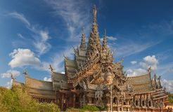 Sanctuary of Truth, Pattaya, Thailand. Stock Images