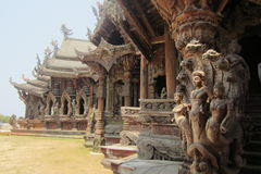 Sanctuary of truth, pure wooden palaces Royalty Free Stock Image