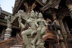 Sanctuary of Truth. Shoot from pattaya stock photos