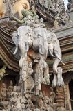 Sanctuary of Truth. Shoot from pattaya royalty free stock image