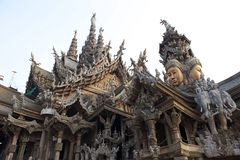 Sanctuary of Truth. Shoot from pattya Stock Photography