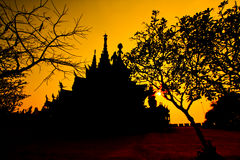 Sanctuary of Truth with sunset background Royalty Free Stock Photography